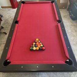 Olhausen Pool Table and Cabinet